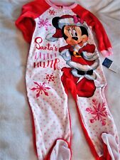 Disney Mickey Mouse Boy's/Girl's One Piece Holiday PJ's, Size 2T or Size 3T