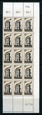 LUXEMBOURG 1956  EUROPA LOT OF 15 SETS MINT MEVER HINGED IN LARGE BLOCK #318/20