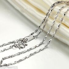 Solid Platinum 950 Necklace /Craved Ingot Link Chain Necklace/Stamp: Pt950 /3.3g