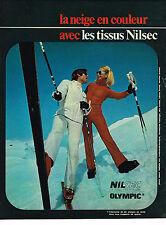 PUBLICITE  1971   NILSEC OLYMPIC   vetements de ski ( recto verso)