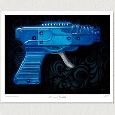 Vintage Tin Ray Space Gun - Water Gun - Marx Space Toy - Poster Print - PADLO