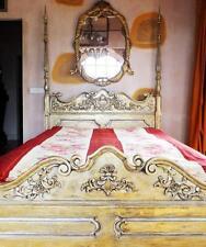 Lit à Baldaquin or Bois Précieux Royal King Bed Letto Cama Antique Ancien ?