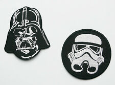 """STAR WARS """"SITH LORD DARTH VADER & IMPERIAL STORMTROOPER Iron-On Patches #S41"""