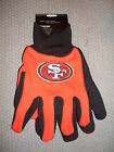 NFL NWT NO SLIP UTILITY WORK GLOVES SAN FRANCISCO 49ERS
