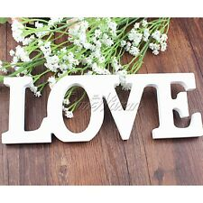 New Wood Wooden White LOVE Sign Freestanding Individual Letters Wedding Decor