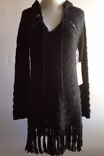 "NWT ""California MoonRise"" Sweater/dress In Black Size S/P"