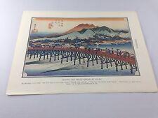 Vintage Print ~ Kyoto ~ Color ~ Hiroshige ~ From 1934 Encyclopedia ~ Ships FREE!