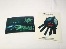 MINECRAFT Sticker + Post Card Mine Chest Loot Crate DEEP OCEAN EXCLUSIVE