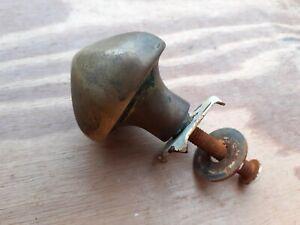 """Vintage old Antique Metal Brass 2.5"""" center Door Pull Handle knob Opener"""