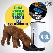 4.3L Automatic Program Auto Digital Pet Cat Dog Feeder Food Bowl Dispenser