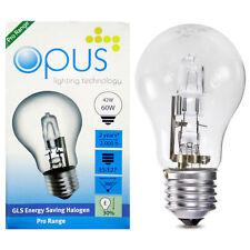 5 x Opus 42w = 60w GLS ES E27 Screw Cap Long Life Clear Eco Halogen Light Bulb