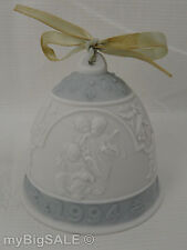 Vtg1994 Lladro Annual Dated Christmas Bell Ornament Angels Singing Scene Retired