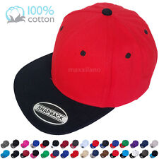 Snapback Hat Ball Cap Cotton Solid Blank Classic Visor Flat Brim Hip-Hop Fashion