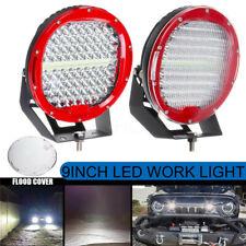 "2Pcs 9"" Inch 1080W Round Work Light LED Spot Flood Offroad Driving Headlight"