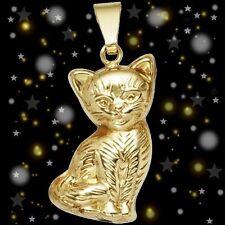 NEU Katze Kinder Anhänger 333er echt Gold 333 Gelbgold Kettenanhänger 8 Karat