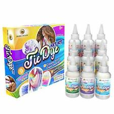 Tie Dye Kit – Set of 9 Paint Colours Ink for Dyeing Fabric,