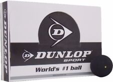 DUNLOP COMPETITION 1 DOT SQUASH BALL (PACK OF 1, BLACK)