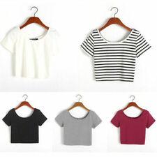 Short Sleeve Blouses Black Tops & Shirts for Women
