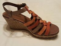 COBB HILL by NEW BALANCE Womens Leather Wedge Sandals Sz 9.5 M