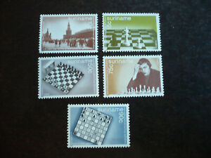 Stamps - Suriname - Scott# 689-690 & 692-694