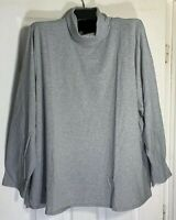 J Jill women Plus Size 3x Pima cotton relaxed turtle neck tunic top Gray New
