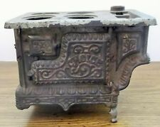 Vintage Cast Iron Choice Salesman Sample Miniature Toy Wood Cook Stove AS IS