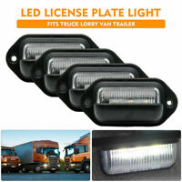 4x LED Licence Number Plate Light Lamp For Trailer Truck Boat Van Caravan 12V AU