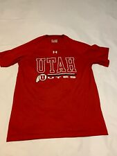 Under Armour Mens Red U of U Utah Utes Loose Fit Short Sleeve T-Shirt Medium