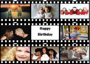 Film reel Movie reel negative photo cake topper a4 size wafer icing sheet edible