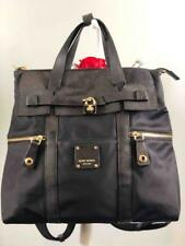 HENRI BENDEL Jetsetter Black Nylon Convertible Large Backpack/ Crossbody Bag