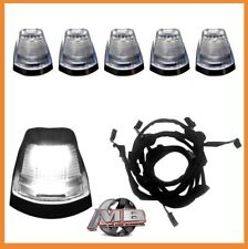 Clear Lens WHITE LED Cab roof lights 5pc 17 18 Ford F250 F350 super duty Wiring