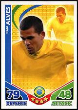 Dani Alves Brasil Match Attax Inglaterra Topps 2010 tarjeta de comercio (C397)