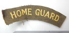WW2 Home Guard Cloth Shoulder Title flash Badge Genuine v2