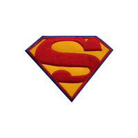 Superman Superhero Logo Patch Iron On Sew On Badge Embroidered Patch