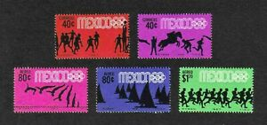 Mexico 1967/68 Olympic Games, Mexico, 5 values MNH