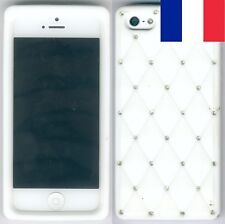 Etui silicone blanc avec diamants Apple iPhone SE