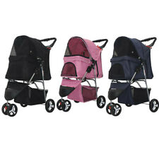 3 Wheels Pet Stroller Cat Dog Cage Jogging Stroller Travel Folding Carrier Safe