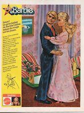 Publicité de presse Mattel Poupée Mannequin Barbie avec Ken 1979