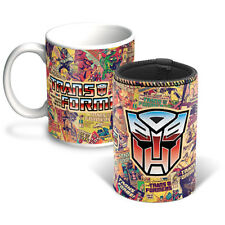 Transformers Coffee Mug and Can Cooler Vintage Autobot Comic Birthday Bar Gift