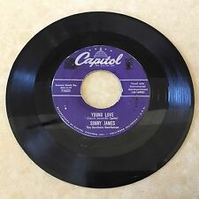 SONNY JAMES - YOUNG LOVE / YOU'RE THE REASON I'M IN LOVE - CAPITOL 45rpm - G+
