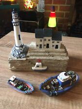 More details for lighthouse ornament & fishing boats - price reduced!