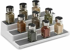 3 Tier Shelf Spice Herb Jar Rack Storage Holder Food Kitchen Cupboard Organiser