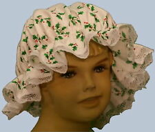 Girls Victorian / Edwardian Medieval /Tudor holly mop cap fancy dress costume