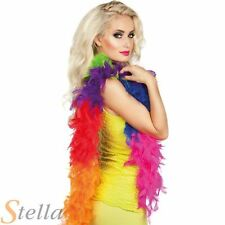 50g Rainbow Feather Boa Multicolour 180cm Gay Pride LGBT Fancy Dress Accessory