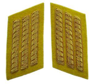 Cavalry Captains Collar Insignia in pair, 3 Gold Bar, American Civil War, New