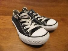 Converse CT All Star Black Canvas Trainers Size UK 11K EU  28.5