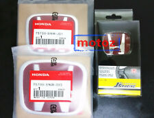 3PCS JDM Red H Emblem Front+Rear+Steering Fit For 16-18 HONDA CIVIC Sedan 4 Dr