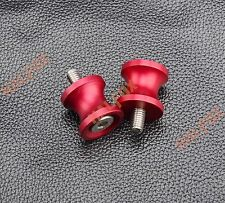 Red 6MM CNC Swingarm Sliders Spools For Ducati MONSTER 821 2014-2015