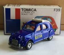 Rare!Tomica Citroen 2CV blue box foreign car series from JAPAN Free shipping