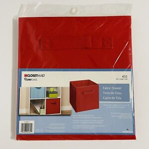 closetmaid 432 cubeicals fabric drawer, red 27cm X X28cm